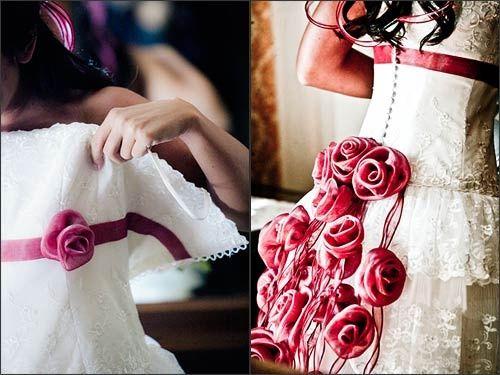 Matrimonio Tema Rose Rosse : Abito rose rosse foto