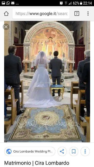 Come deve sedersi la sposa all'altare? 1