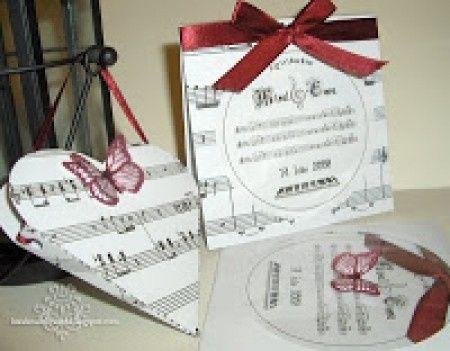 Inviti nozze tema musica