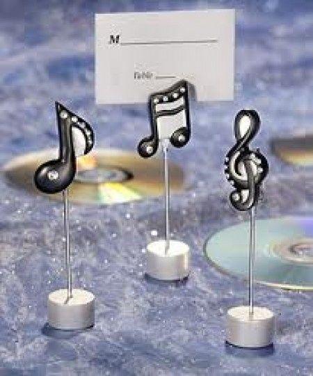 segnaposto tema musica