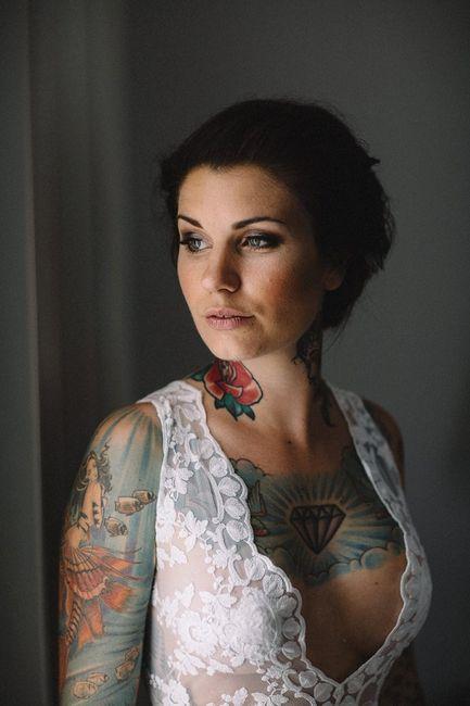 Spose tatuate: valorizzare i tatuaggi! 1