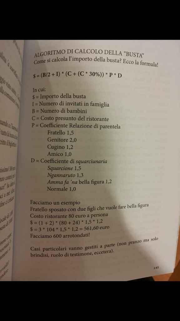 Calcolo della busta - 1