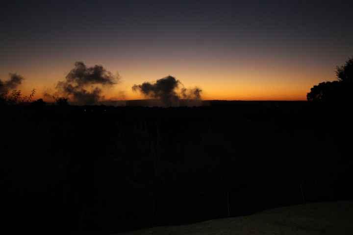 Vapore delle Cascate al tramonto