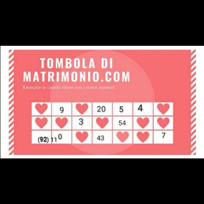 Gioca con i tuoi numeri alla Tombola di Matrimonio.com 4