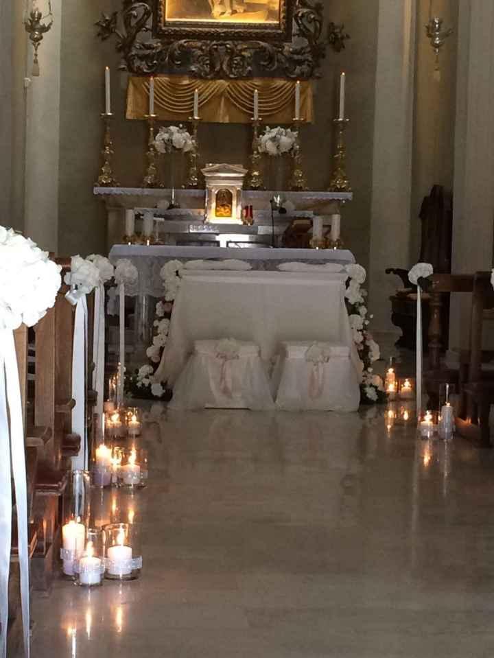 Ortensie, candele e cristalli