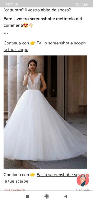 Fai lo screenshot e scopri il tuo abito da sposa 29