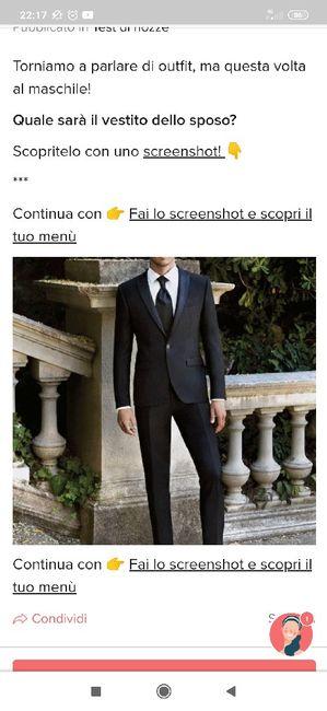 Fai lo screenshot e scopri il vestito dello sposo 26