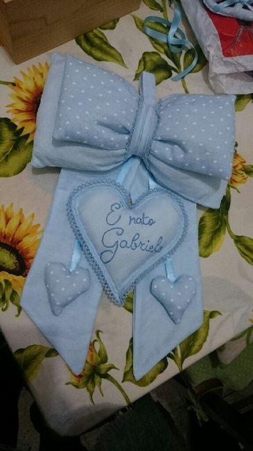 Fiocco nascita e sacchettini - 1