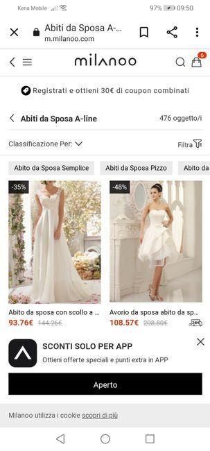 😘 Buongiorno  e buona bomenica a tutte, volevo un vostro parere sui siti di abiti da sposa (milano.com) e (lightinthebox.it) 🤔 2