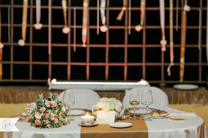 Mise en place: il tavolo degli sposi - 1