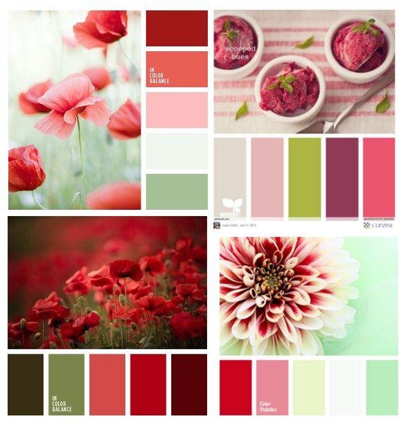 Wedding's Palette: i colori complementari (verde/rosso/rosa) 2