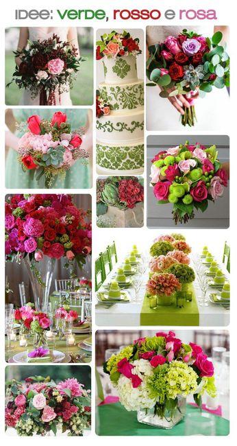 Wedding's Palette: i colori complementari (verde/rosso/rosa) 3