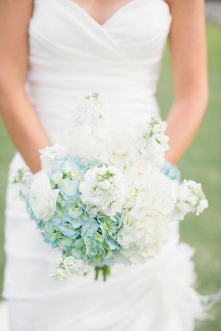 Matrimonio Azzurro Ortensia : Bouquet con fiori azzurri página moda nozze forum