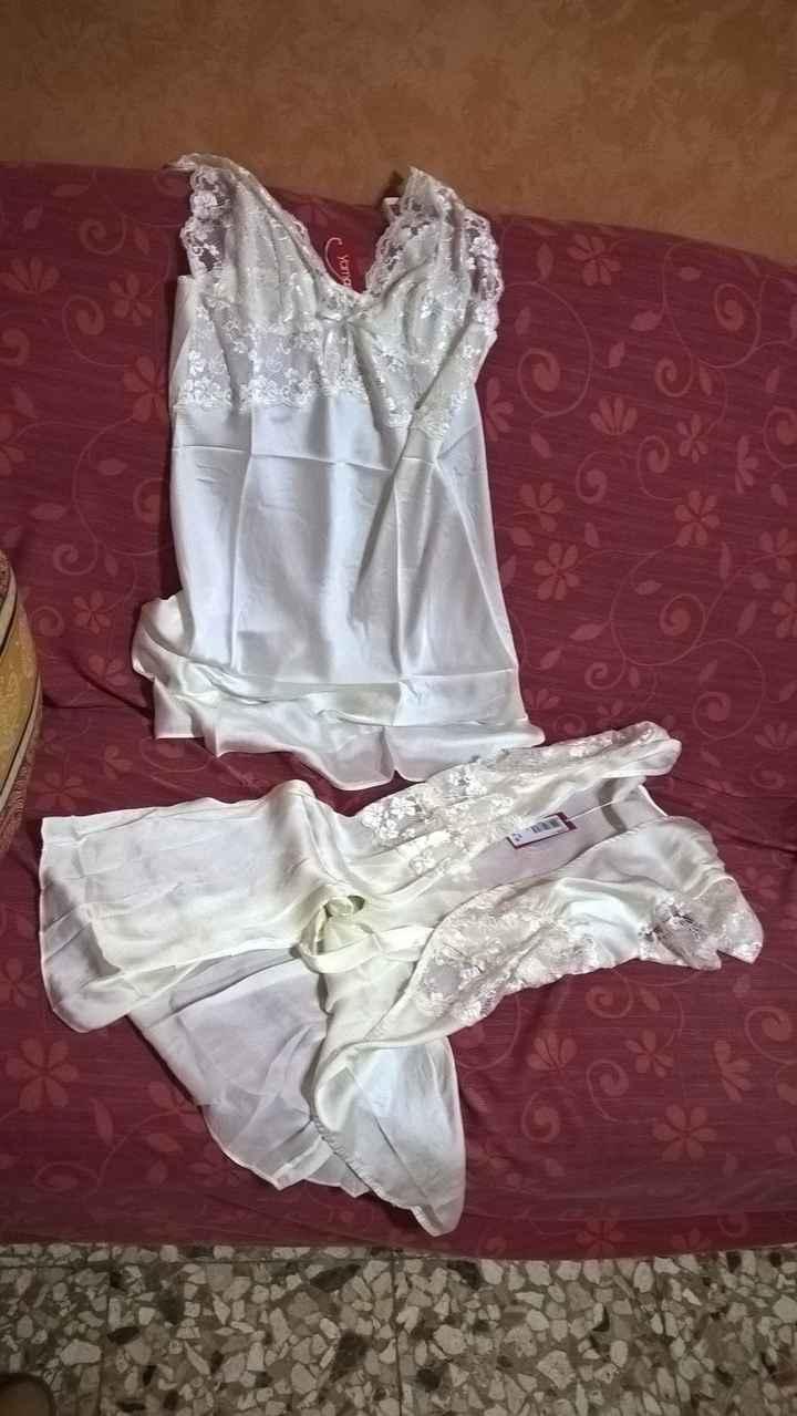 prima di indossare l'abito da sposa....