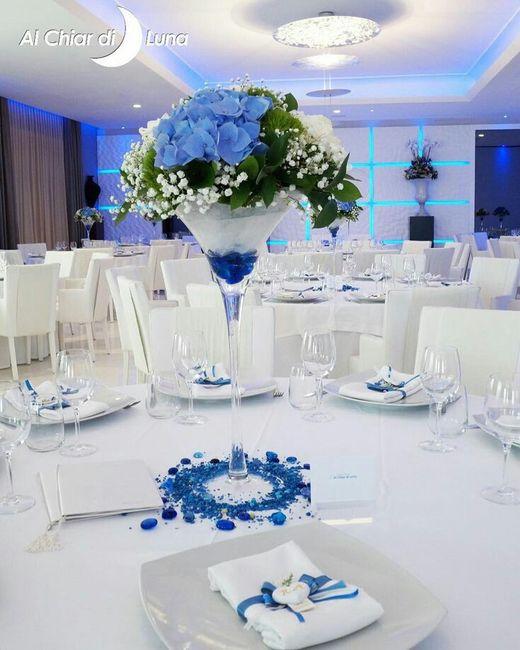 85afad2fd97e Centro tavola alto 😍💐💙 - Ricevimento di nozze - Forum Matrimonio.com