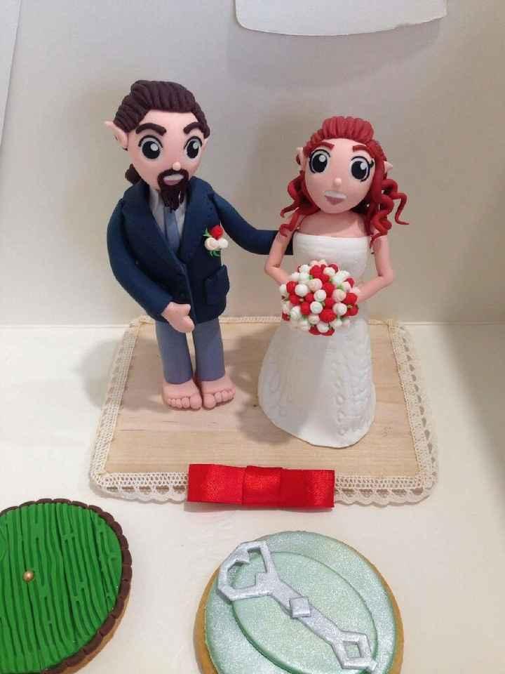 Cake topper e biscotto segnaposto - 1