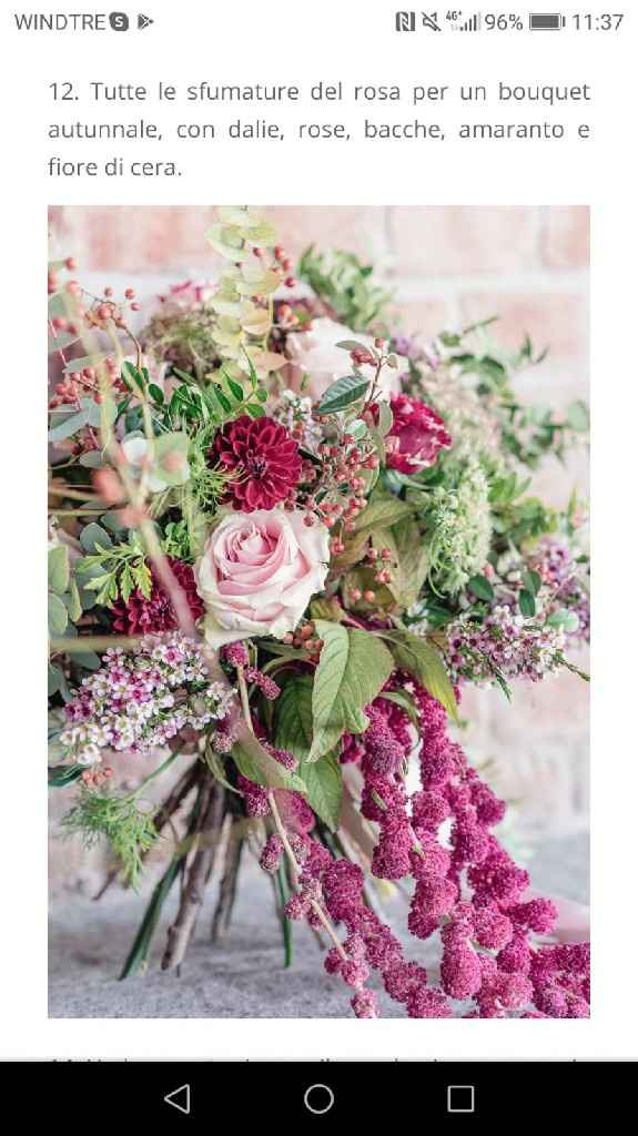 Consigli bouquet autunno - 2