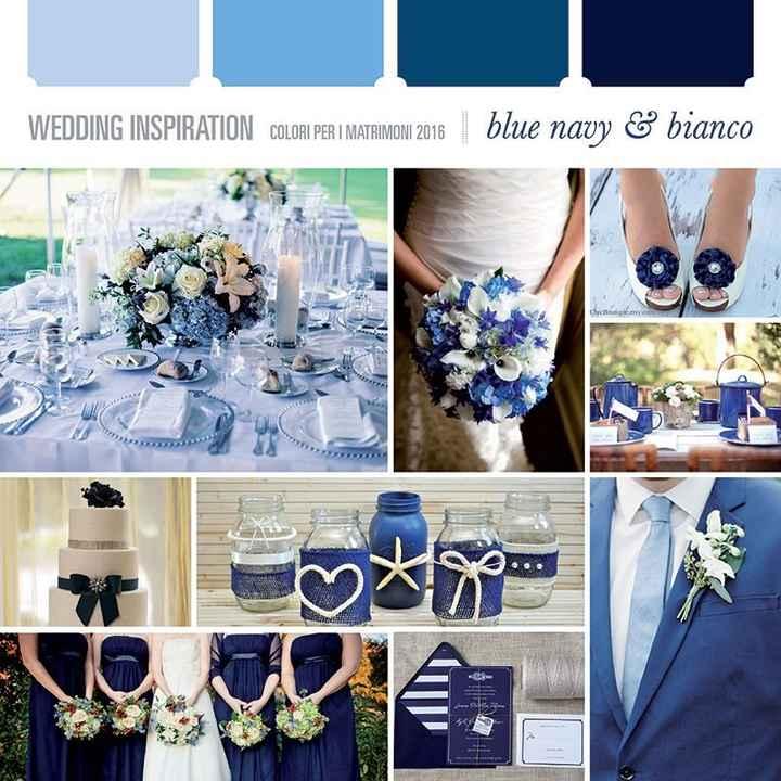 Tema del matrimonio Rosso-bianco-blu - 1