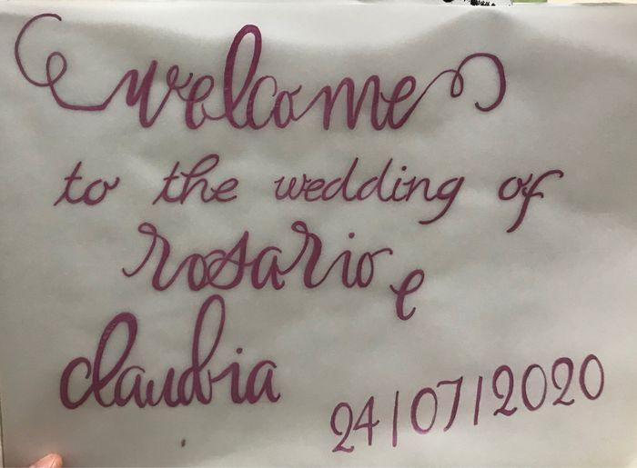Welcome ti the wedding ! 2