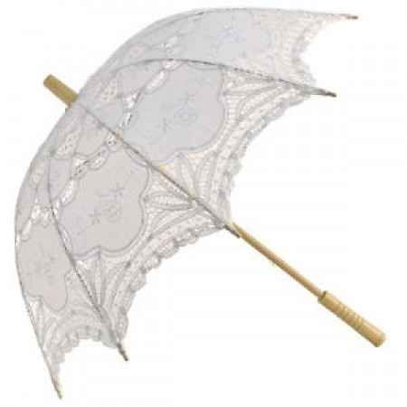 ombrello pizzo bianco