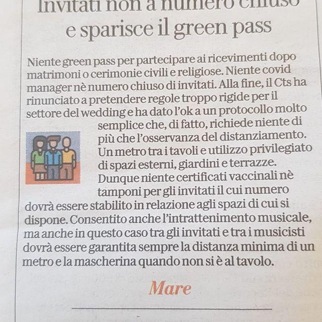 No green pass matrimonio 5