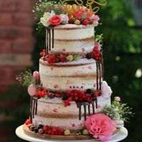 Naked cake con topper