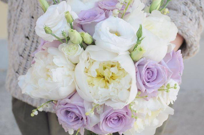 Bouquet bianco e glicine(lilla) - 3