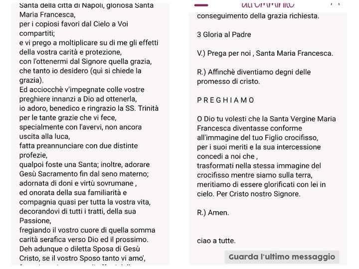 Preghiera a Santa Maria Francesca - 1