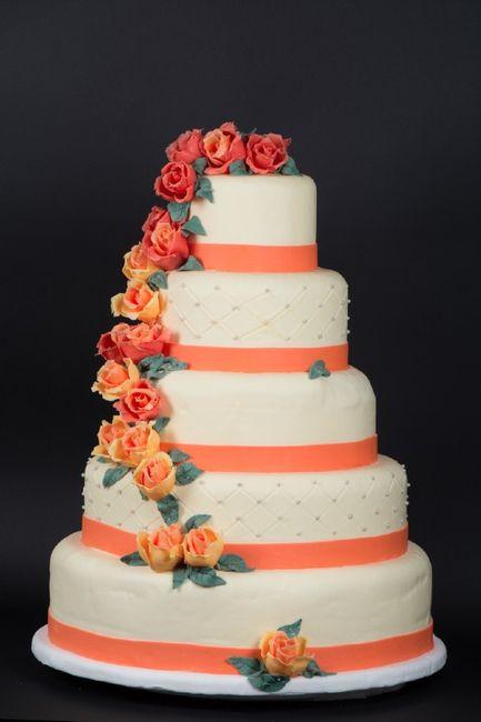 spesso Le più belle torte nuziali arancioni - Ricevimento di nozze  OL32