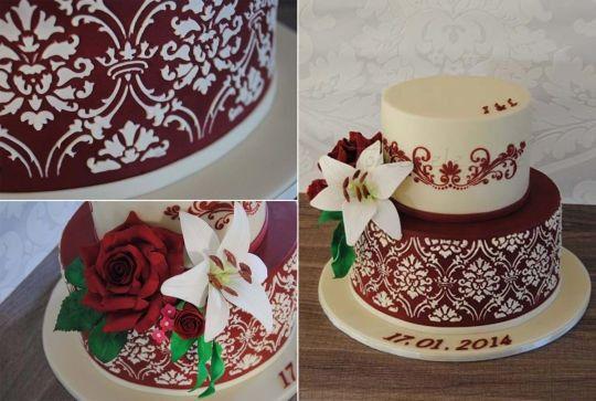 Le pi belle torte nuziali bordeaux ricevimento di nozze for 30x30 piani di piani a 2 piani