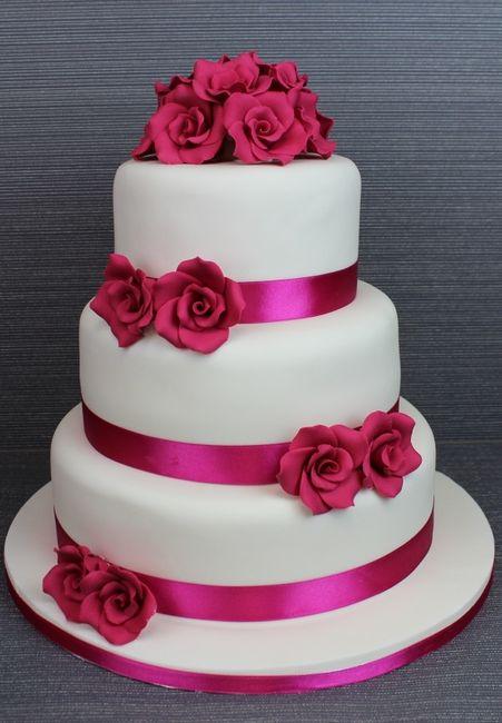 Wedding Cakes Fuschia And Silver