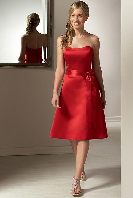 4adc06e34c9b Abiti damigella rosso - Moda nozze - Forum Matrimonio.com