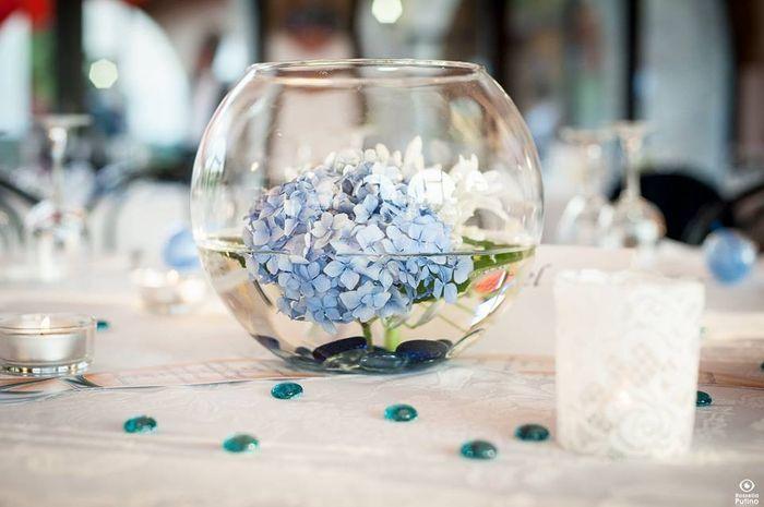 Matrimonio Fiori Azzurri : Centrotavola azzurri ricevimento di nozze forum