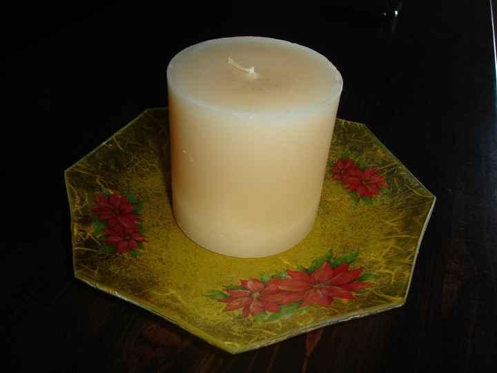 piatto porta candele