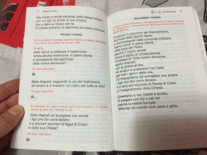 Matrimonio Simbolico Libretto : Libretto messa cerimonia nuziale forum matrimonio