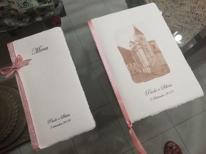 Libretti messa e menù - 1