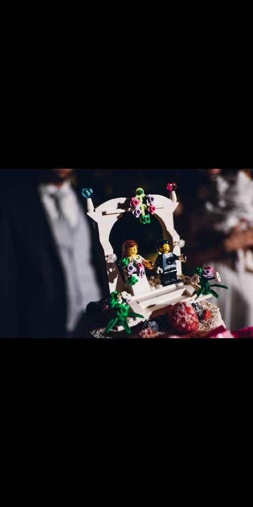 Cake topper lego su naked cake - 3