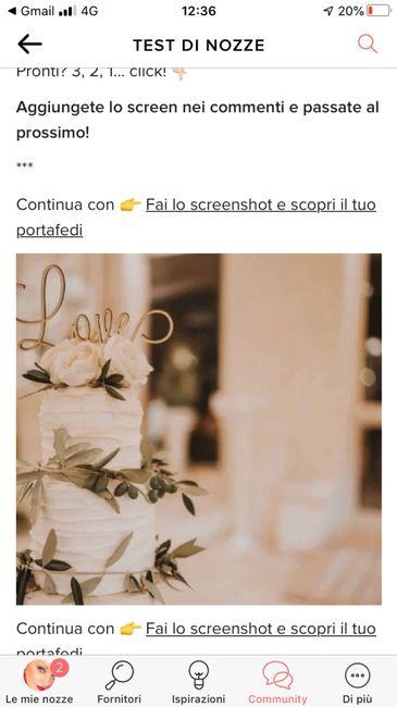 Fai lo screenshot e scopri la tua torta nuziale - 1