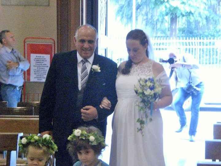 Io ed il mio papi .... ingresso in chiesa!!!