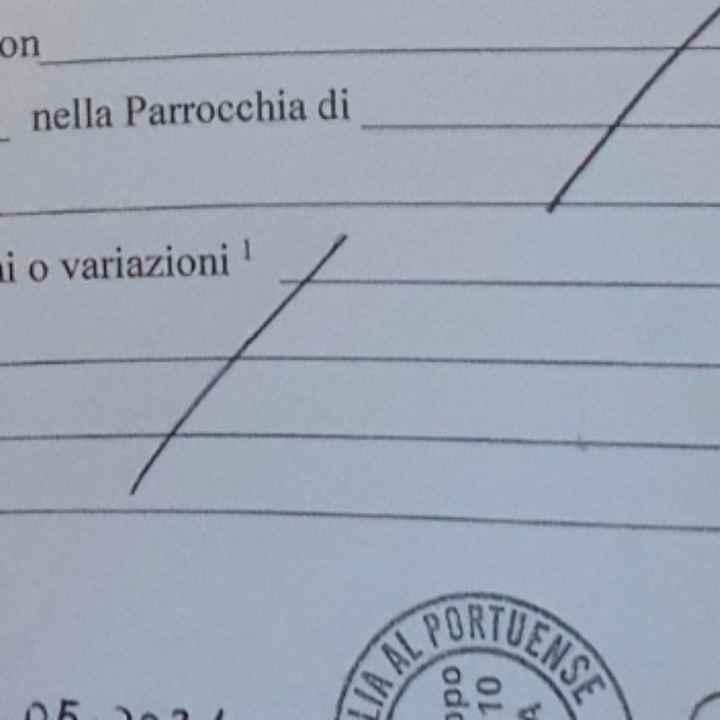 """Certificato di """"stato libero ecclesiastico - 1"""