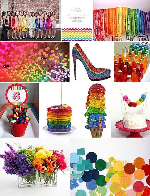 Matrimonio Tema Arcobaleno : E se il colore fossero tutti i colori pagina