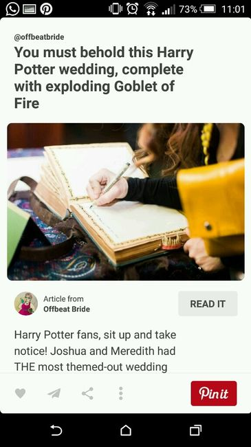Tavoli Matrimonio Tema Harry Potter : Matrimonio a tema harry potter pagina cerimonia