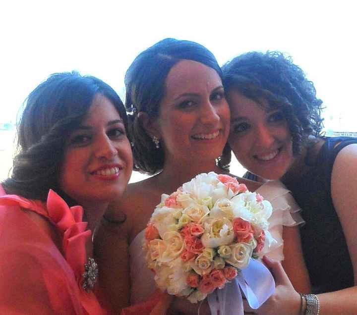 Io, le mie testimoni e il mio bouquet