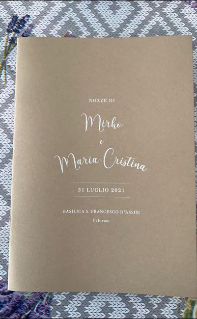 Libretto messa: come impostare la copertina? 1