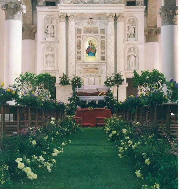 Tappeto Matrimonio Azzurro : Addobbo chiesa tappeto d erba vera cerimonia nuziale