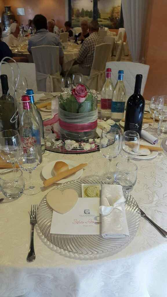 ....decorazioni tavoli in sala - 1