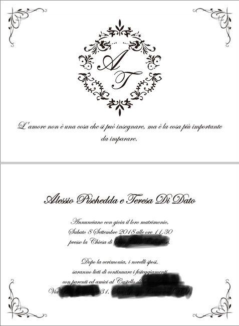 Partecipazioni Matrimonio Testo.Testo E Impaginazione Partecipazioni Che Dite Organizzazione
