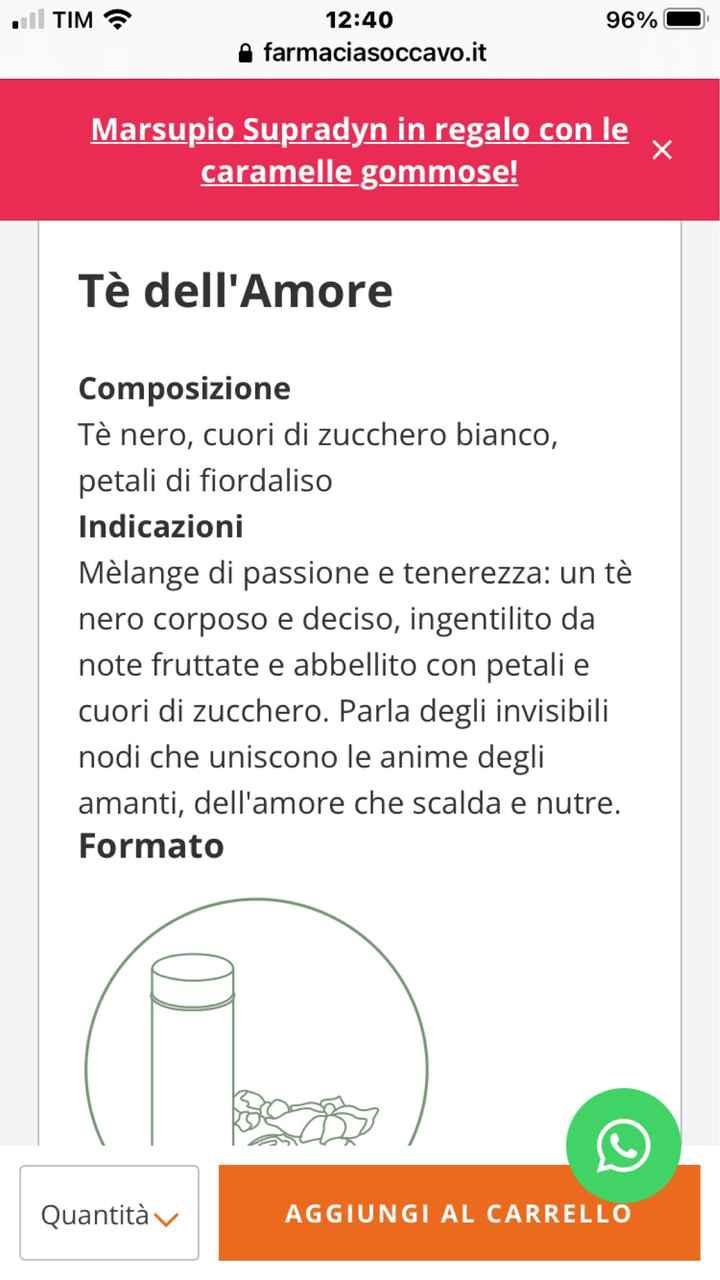 The/tisane come bomboniera - 2