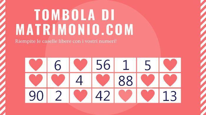 Gioca con i tuoi numeri alla Tombola di Matrimonio.com 2