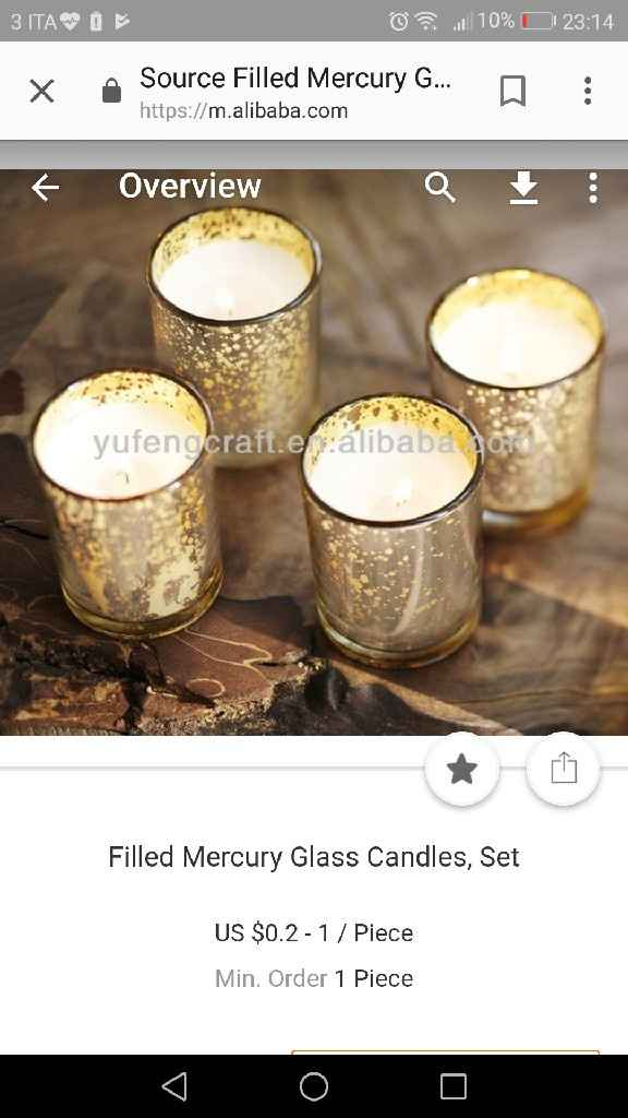 Bomboniere candele Fai da te - 1